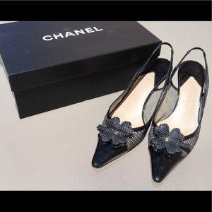 Chanel Shamrock Kitten Heels
